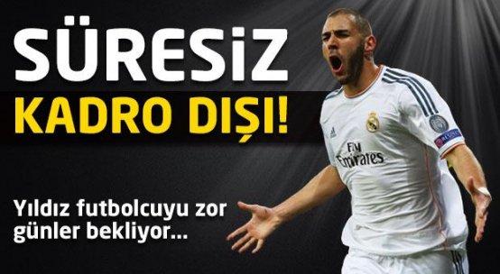 Karim Benzema süresiz kadro dışı bırakıldı