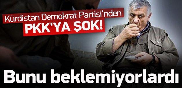Kürdistan Demokrat Partisi'nden PKK'ya şok