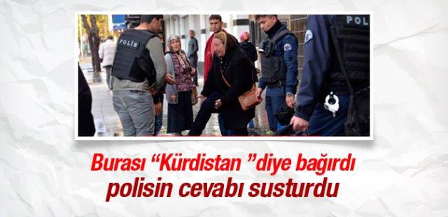 Kürdistan diye bağırdı polis cevabı yapıştırdı!