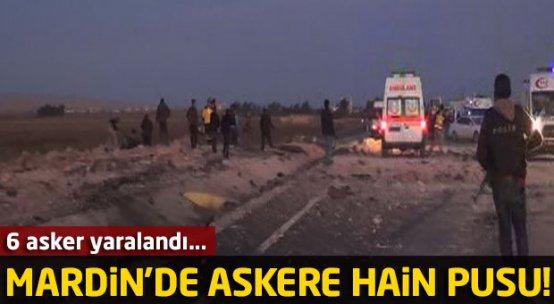 Mardin'de askere bombalı tuzak!