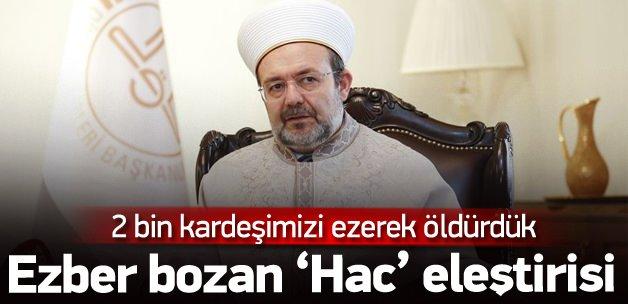 Mehmet Görmez'den 'Hac' eleştirisi