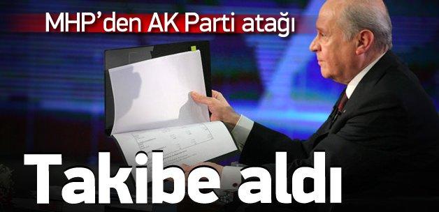 MHP 'AK Vaatler Takip Kurulu' kuruyor!
