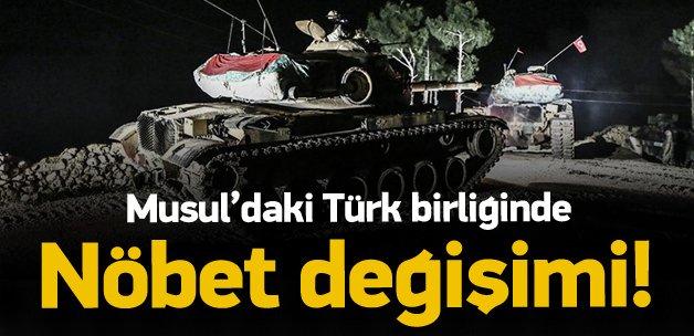 Musul'da bulunan Türk birliğinde nöbet değişimi