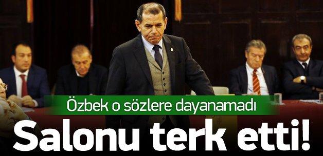 O sözlerden sonra Özbek toplantıyı terk etti!