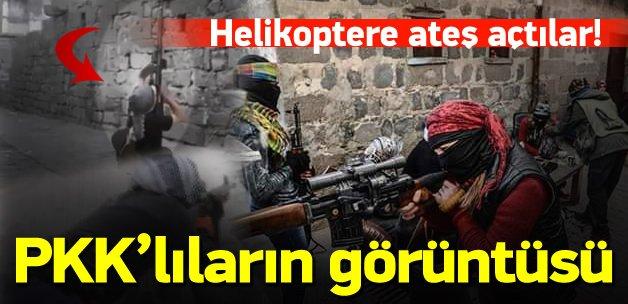 PKK'lı teröristler helikoptere ateş açtı