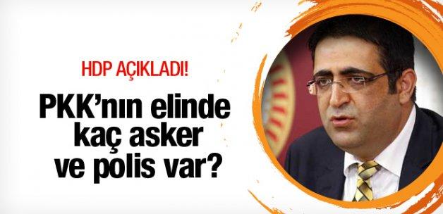 PKK'nın elinde kaç asker ve polis var? HDP açıkladı