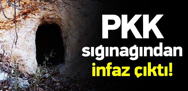 PKK sığınağından infaz çıktı!