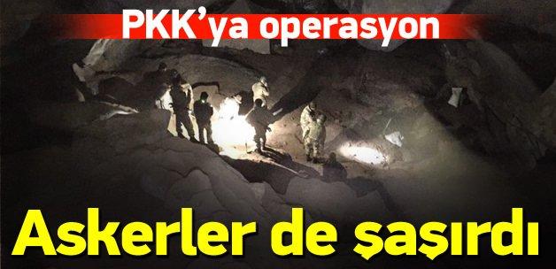 PKK sığınaklarına hava destekli operasyon