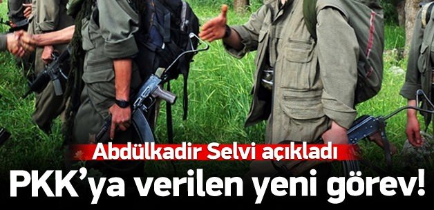 PKK'ya verilen yeni görev