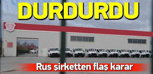 Rus araç fabrikası üretime ara verdi