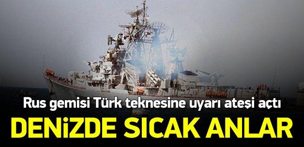 Ruslardan Türk teknesine taciz