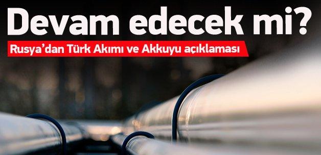Rusya'dan Türk Akımı ve Akkuyu açıklaması