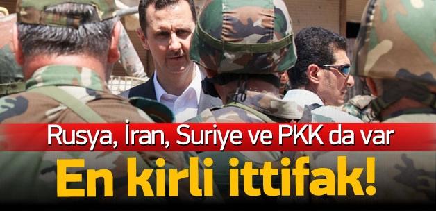 Rusya-İran-Suriye ve PYD'den kirli ittifak