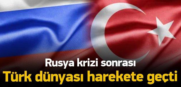 Rusya krizi Türk dünyasını harekete geçirdi