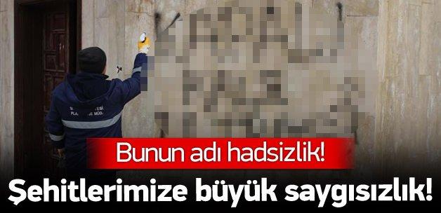 Sivas'ta şehitlerimize büyük saygısızlık!