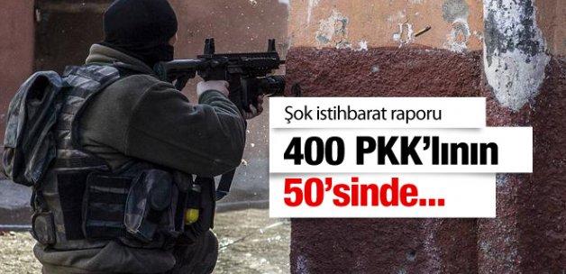 Şok istihbarat raporu 400 PKK'lının 50'sinde...