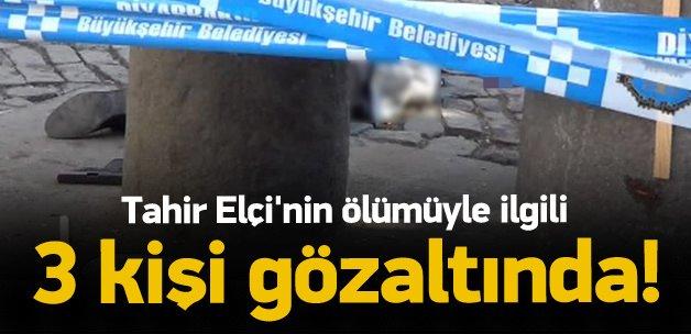 Tahir Elçi'nin öldürülmesi ile ilgili 3 gözaltı