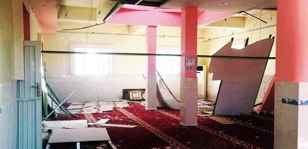 Teröristler camiyi bu hale getirdi!