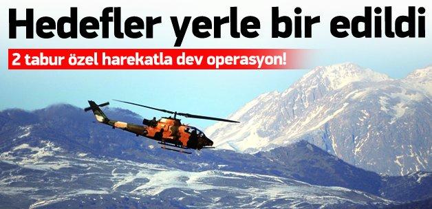Tunceli'de büyük operasyon! Yerle bir edildi