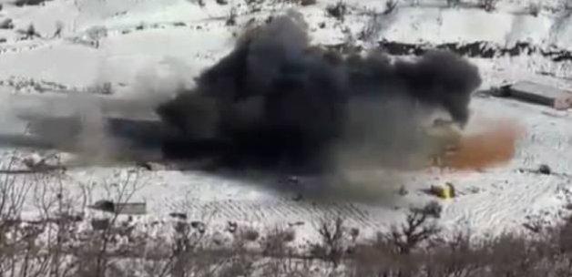 Türk F-16'ları PKK inlerini yerle bir etti