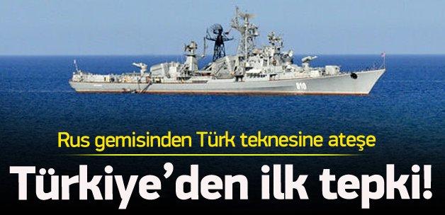 Türk gemisine ateş açılmasına ilk tepki