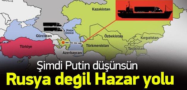 Türk TIR'larına alternatif güzergah