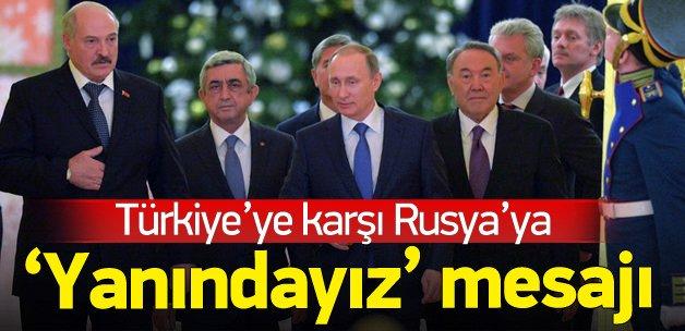 Türkiye'ye karşı Rusya'ya 'yanındayız' desteği