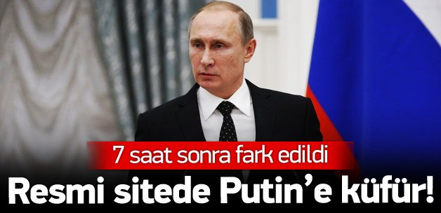 UEFA Putin'e küfürü resmi hesabında yayınlandı!