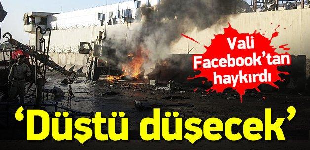 Vali Facebook'tan Devlet Başkanı'nı uyardı