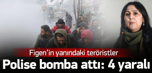 Yüksekdağ'ın yanındakiler polise bomba attı