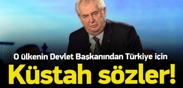 Zeman'dan Türkiye hakkında küstah sözler