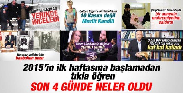 2015'in ilk günlerinde Türkiye ve dünyada neler oldu