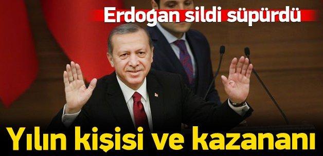 2015'te yılın kişisi Erdoğan oldu