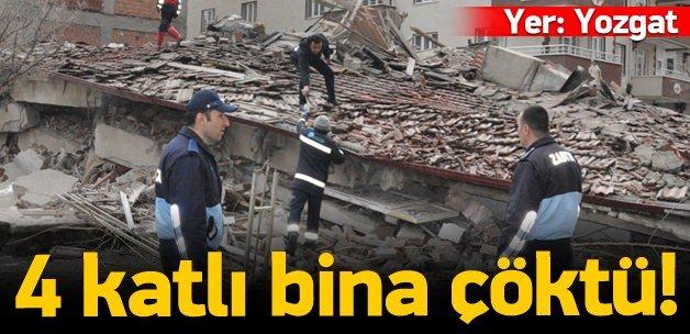 4 katlı bina çöktü: Enkazda kalanlar var!