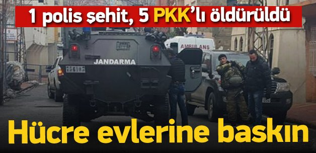 7 PKK'lı öldürüldü, 1 polis şehit