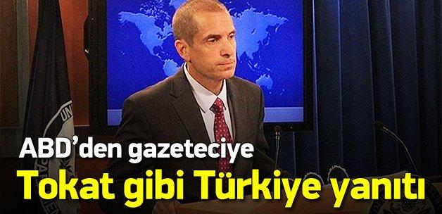 ABD'den gazeteciye tokat gibi Türkiye yanıtı