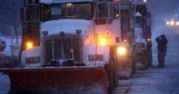 ABD'nin doğu yakası kar fırtınası altında