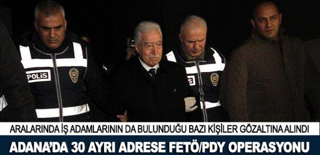 Adana'da 30 ayrı adrese FETÖ/PDY operasyonu