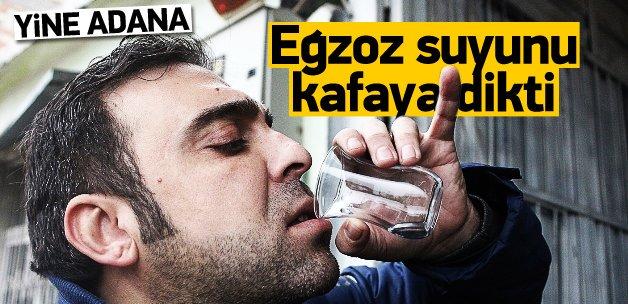Adana'da müşteri egzoz suyu içti