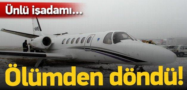 Adnan Polat'ın içinde bulunduğu jet pistten çıktı