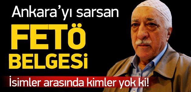 Ankara'yı sarsan FETÖ Belgesi'ndeki 30 isim
