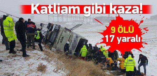 Ankara yolunda korkunç kaza: 9 ölü, 17 yaralı