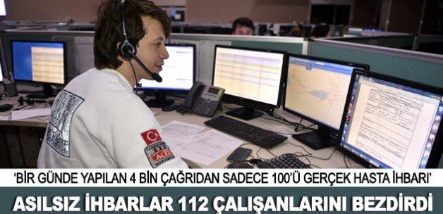 Asılsız ihbarlar 112 çalışanlarını bezdirdi
