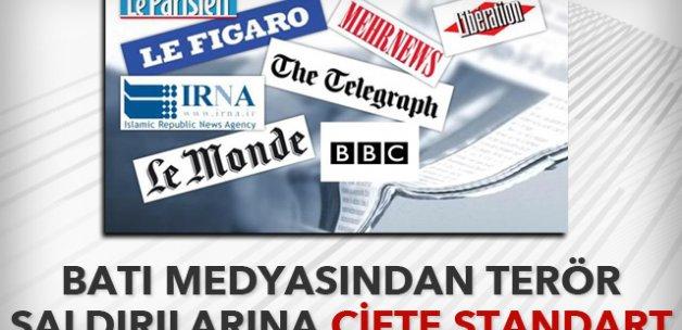 Avrupa medyasından terör saldırılarında çifte standart