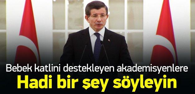 Başbakan Davutoğlu akademisyenlere sert çıktı