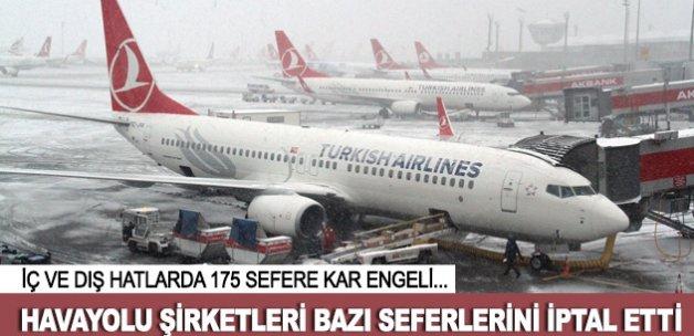 Bazı havayolu şirketleri İstanbul'daki seferlerini iptal etti