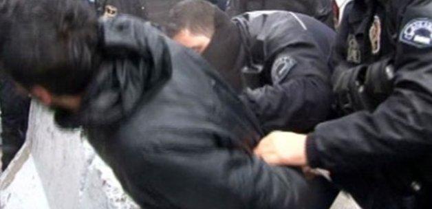 BM temsilciliği önünde eylem yapan 9 kişiye gözaltı