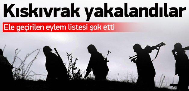Büyük eylem hazırlığındaki teröristler yakalandı