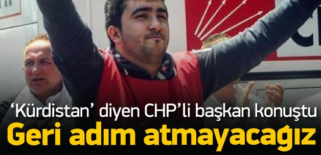 CHP Gençlik kolları başkanı Otlu konuştu