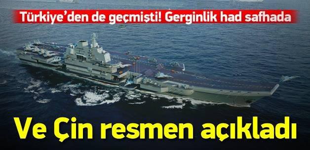 Çin'in 2'nci uçak gemisi 'kayak pisti'
